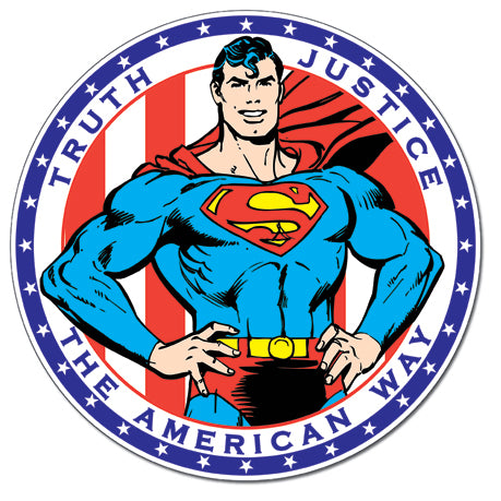 Superman Truth Justice - Tin Sign