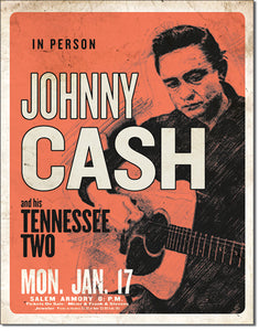 Johnny Cash - Tin Sign