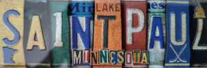 St Paul MN License Plate - Magnet