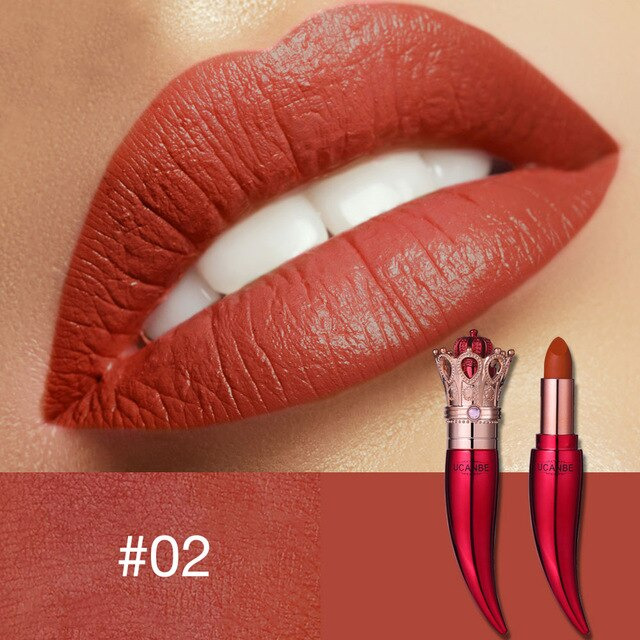UCANBE 5 Color Pure Creamy Luxury Lipstick Gold Crown Velvet Matte Lip Stick Nude Makeup Long-lasting Chilli Rouge Batom
