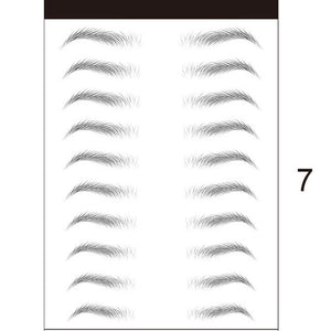3D Stick-On Eyebrows Sticker Eye Brow Makeup Decal LDO99