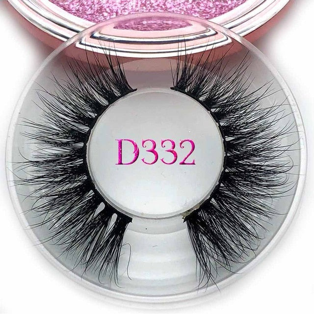 Mikiwi D383 3D mink eyelashes GB popular long thick 3d mink lashes maquiagem makeup false eyelashes