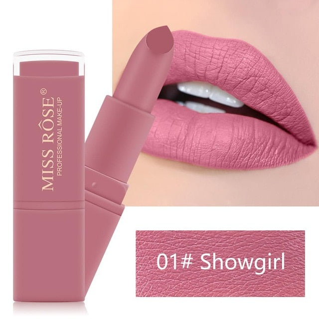 New Arrival Lips Makeup Natural Matte Lipstick Waterproof Long Lasting Nude Velvet Sexy Pink Lipstick Non-Stick Cup Lip Tint TSM