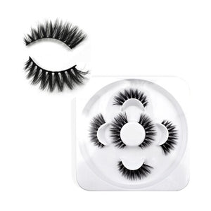 IMAGES natural 3D false eyelashes fake lashes makeup kit Mink Lashes extension mink eyelashes maquiagem