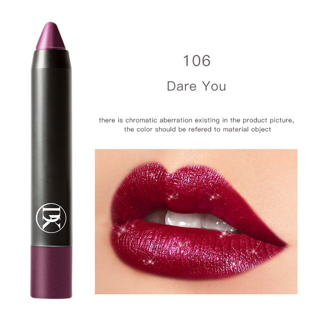 Metallic Makeup Waterproof Matte Lipstick Long Lasting Lip Gloss Makeup Cosmetics Lip makeup 8 Colors For Women Dukan Whole Sale