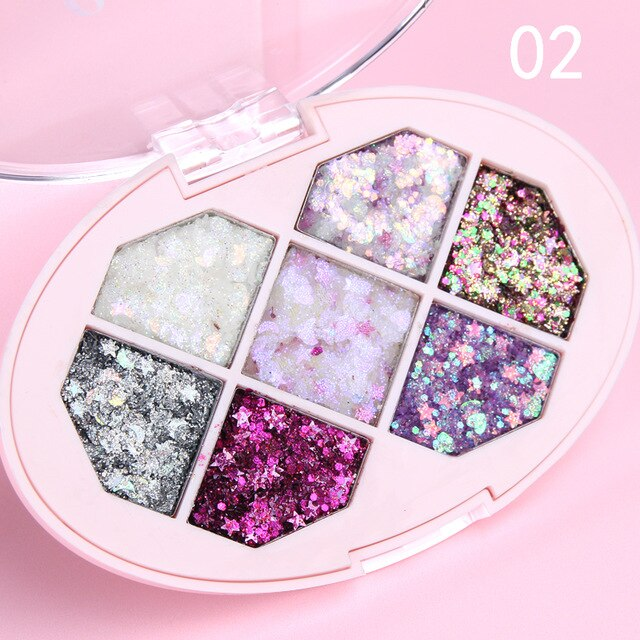 Mermaid Glitter Eyeshadow Pigment Body Face Eye Shimmer Gems Sequin Gel Cream Holographic Festival Jewels Makeup Cosmetics