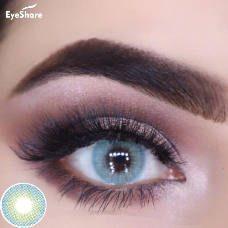 EYESHARE 1 Pair  Aurora Europe Colored Contact Lens Yearly Use Cosmetic  Contact Lenses Eye Color