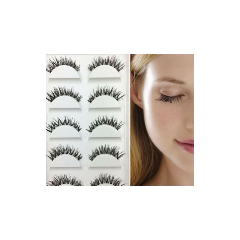 5 Pairs False Fake Faux Eyelashes Extension Demi Wispy Set Natural Criss-cross Cruelty-free Long Eye Lashes Makeup Tool