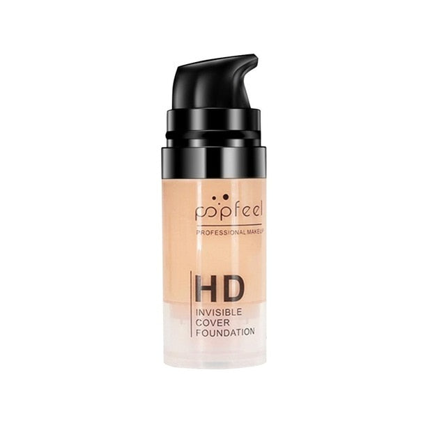 Invisible HD Cover Foundation Moisturizing Concealer Oil Control Nude Makeup Foundation Cream Waterproof Makeup Foundation MKXJ