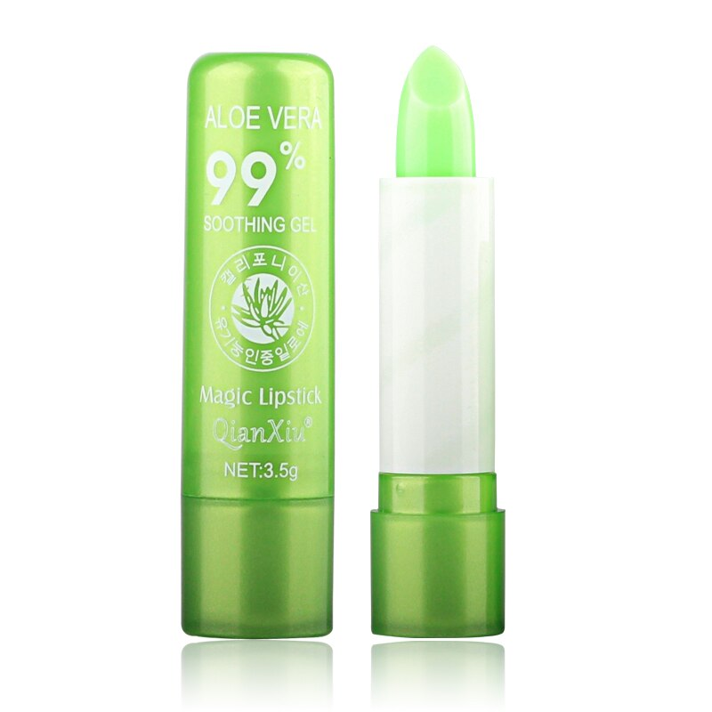 New Natural ALOE VERA Temperature Change Color Jelly Lipstick Long Lasting Moistourizing Lip Makeup Lip Balm Lip Gloss