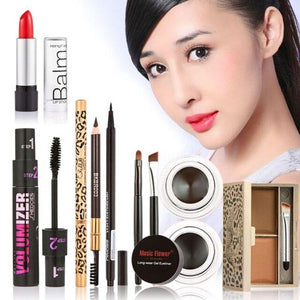 Hot 6 pcs/set Makeup Set including eyebrow pencil,eyeliner pencil,eyeliner cream ,lipstick,eyebrow powder,eyelash Cosmetics