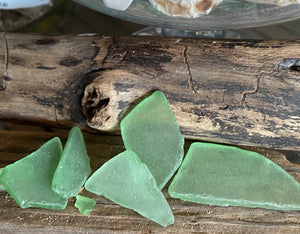 Jade Green Seaglass, includes shipping