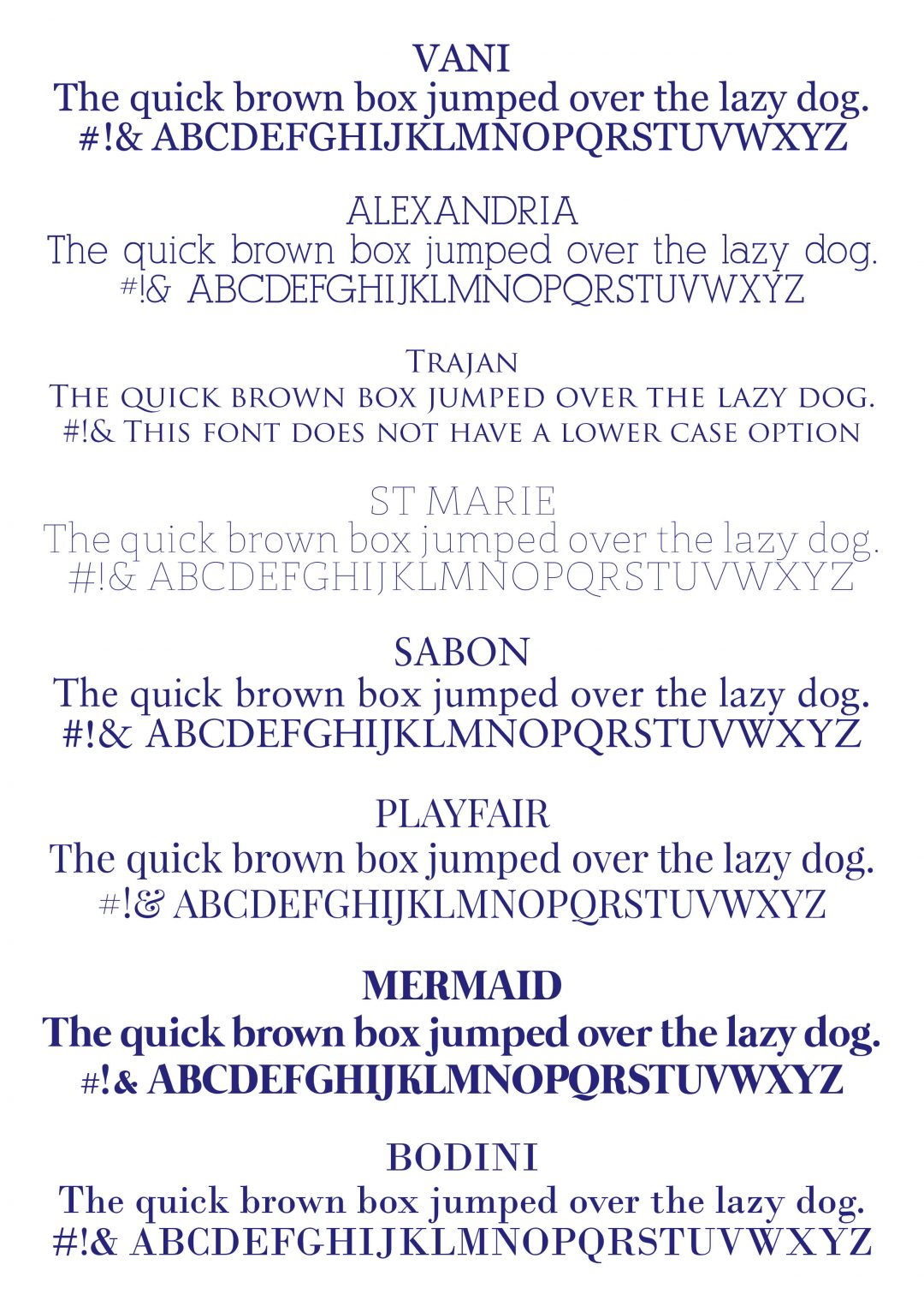 Traditional Font Options for Modern Pink Paper