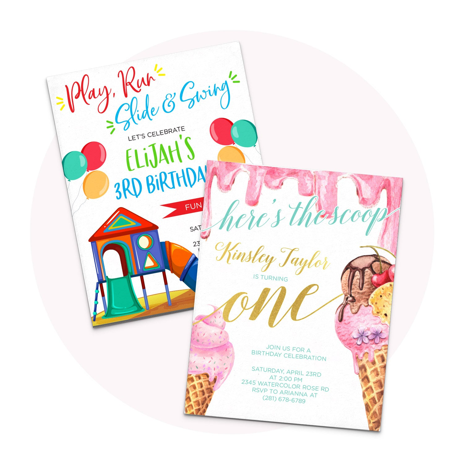 Personalized Birthday Invitations for Kids and Adults