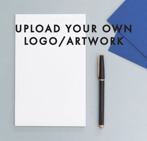 Upload Your Own Logo or Artwork, NOTEPAD, Custom Text/Font Notepads