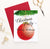 CPI011 red ornament personalized christmas party invites pine