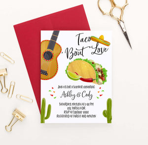 EI014 fiesta engagement party invites with taco cactus guitar 2
