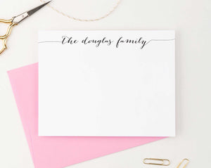 FS001 simple script family stationery personalized couple elegant anniversary gift