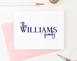 Personalized Simple Folded Couples Stationery