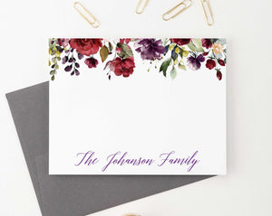 FS023 personalized burgundy floral wedding stationery family anniversary florals fall 2