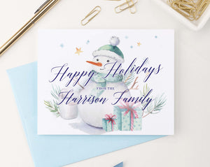 HGC001 snowman christmas greeting cards personalized presents elegant holiday 2