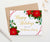 HGC002 elegant personalized  poinsettias christmas cards folded red lines holiday gold 2