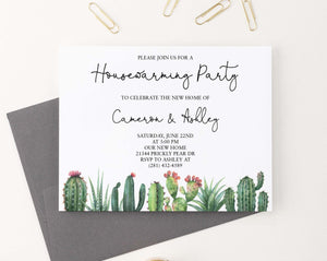 HPI017 personalized elegant housewarming party with cactus succulents greenery 1