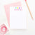 KS008 personalized hearts kid stationary note cards set heart cute simple