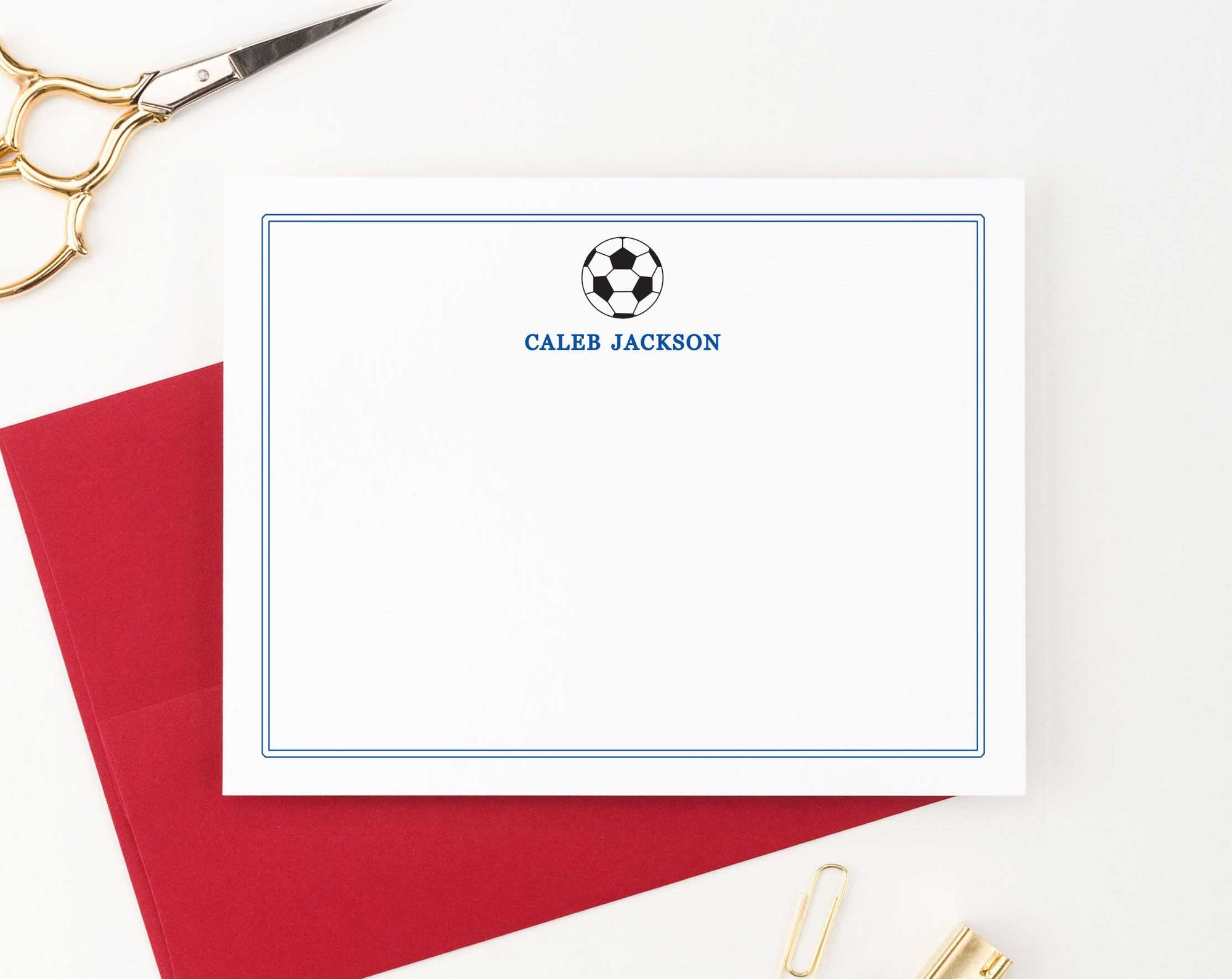 KS013 personalized soccer kid stationary with border soocer ball sport sports