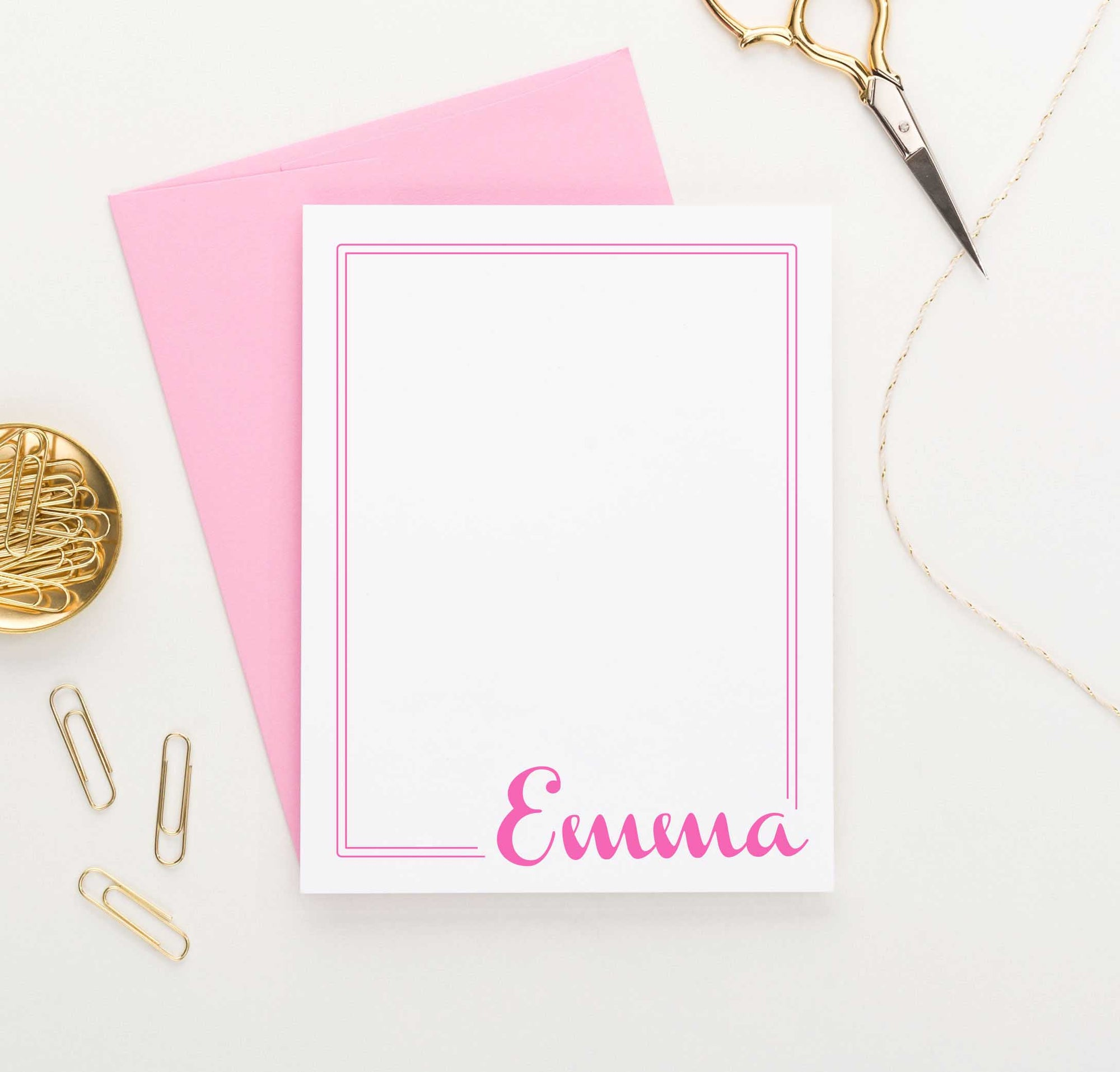 KS014 simple name and border stationary personalized for kids simple 2