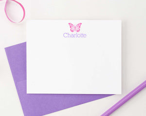 KS025 personalized butterfly kid stationery set girls insect butterflies