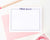 KS031 modern bordered thank you cards personalized for girls stationery flat polka dot border kids 1