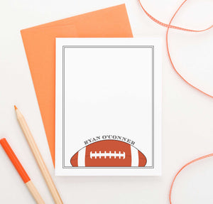 KS049 personalized football thank you cards for boys girls sports sport athletic vertical