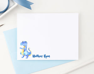 KS086 blue tyrannosaurus dinosaur stationery set personalized kids animal dino dinosaurs 1