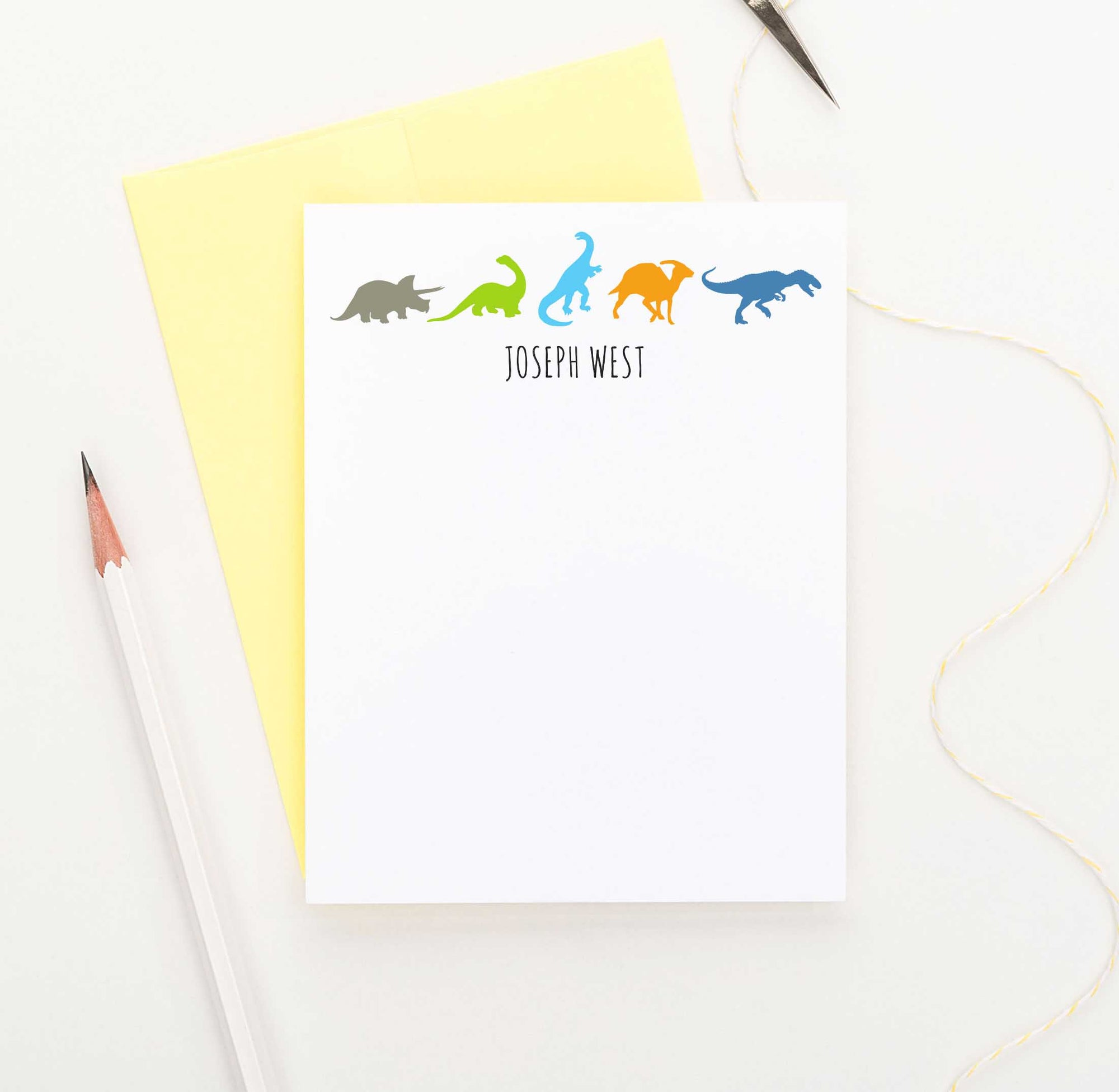 KS087 personalized dinosaurs stationery sets for letter writing kids dinos dino animals