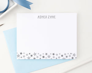 KS092 personalized stars stationery set for kids boys girls star cute fun bottom flat note card 1