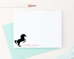 KS105 personalized horse silhouette stationery for children horses pony animal 1