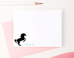 KS105 personalized horse silhouette stationery for children horses pony animal