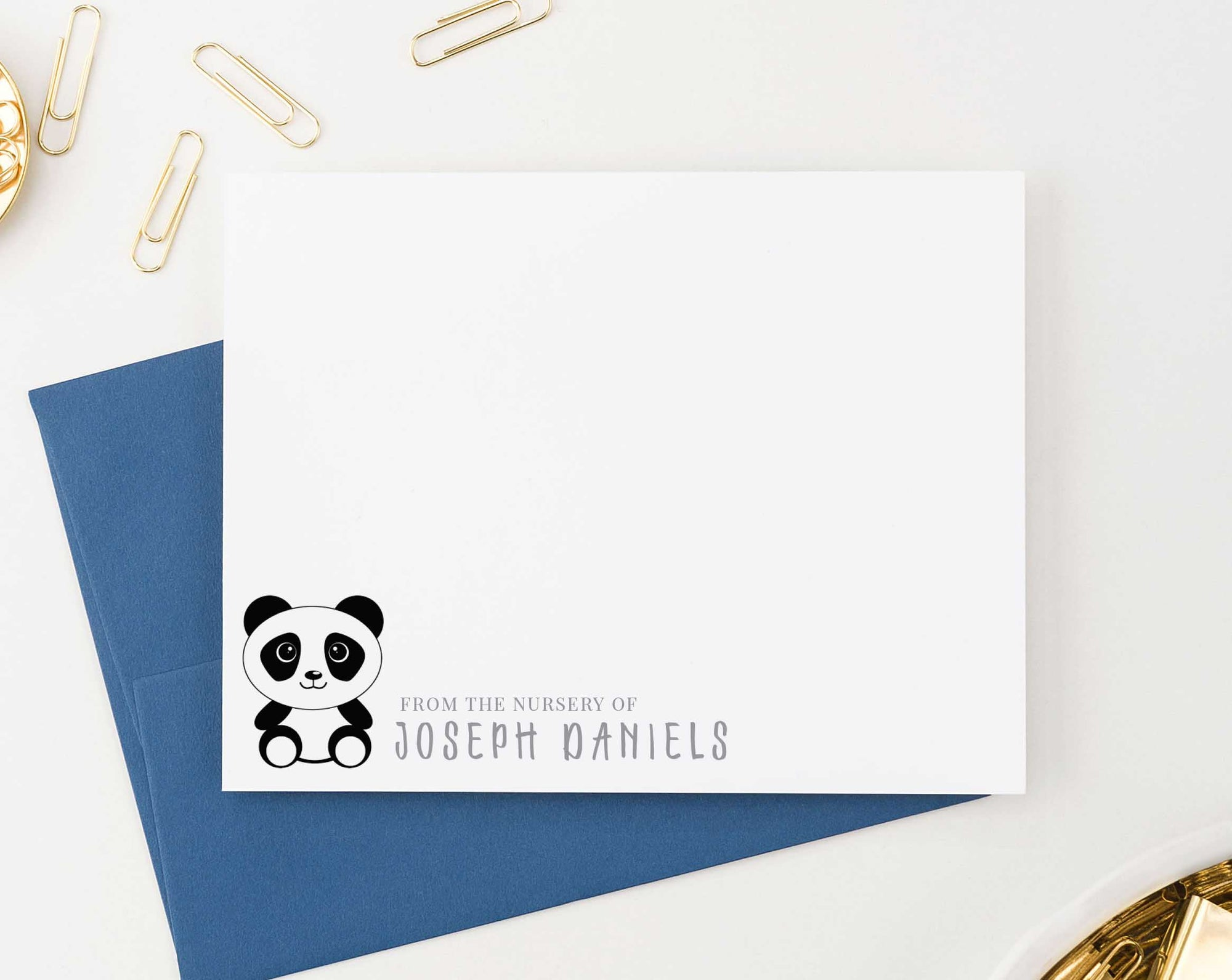 KS108 from the nursery of panda stationery set for boys and girls kids pandas animal cute baby personalized 1