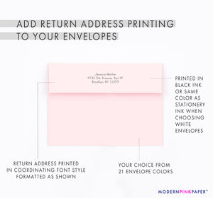 Personalized Pink Watercolor Hearts Stationery Sets