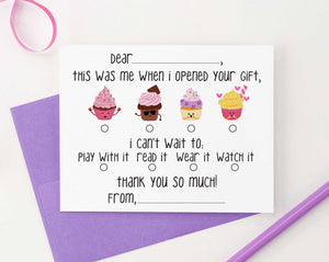 KS126B cupcake fill in thank you stationery girls and boys cute simple cupcakes 3