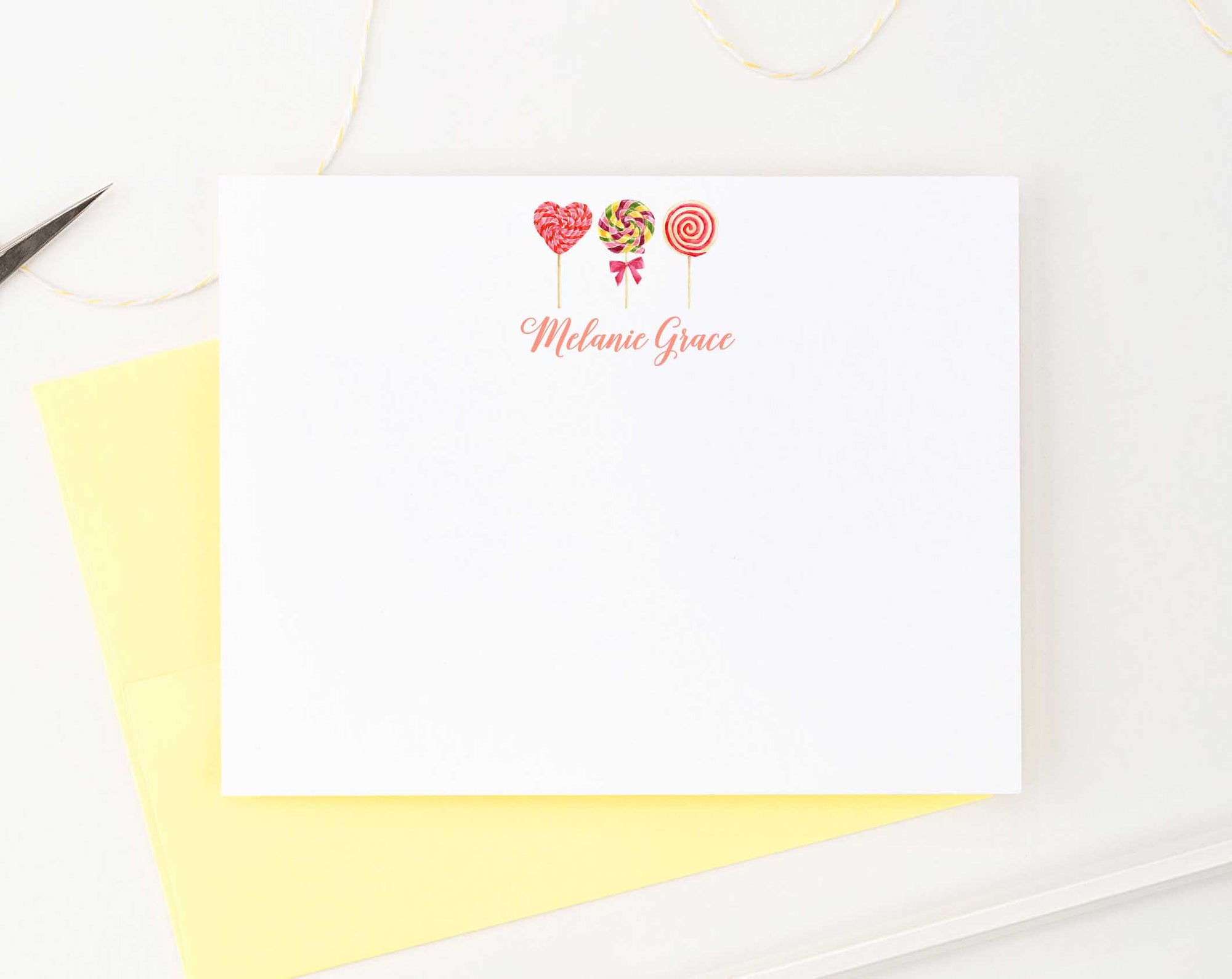 KS131 personalized lollipop personal stationery for kids lollipops candy sweet 4