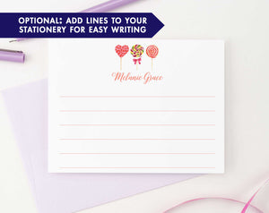 KS131 personalized lollipop personal stationery for kids lollipops candy sweet  lined