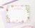 KS133 watercolor floral personalized stationery set a note from girls flowers cute sweet 3