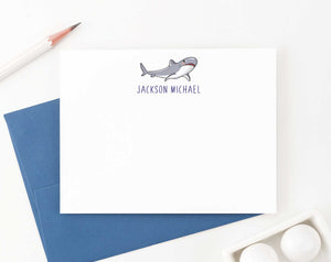 KS140 personalized cute shark stationery gifts for kids sharks fish clipart great white animal 1