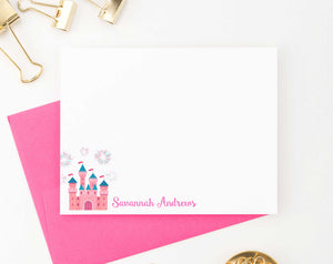 KS141 personalized princess castle stationery note cards for girls kids fairytale fireworks fairy tale cute fun 2