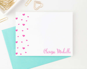 KS149 personalized name and heart stationery set for girls girl kids elegant cute 2