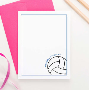 KS154 personalized volleyball stationery set for girls and boys kids sports sport sporty border 1
