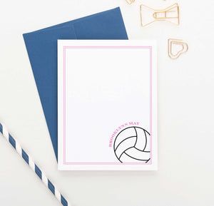 KS154 personalized volleyball stationery set for girls and boys kids sports sport sporty border 2