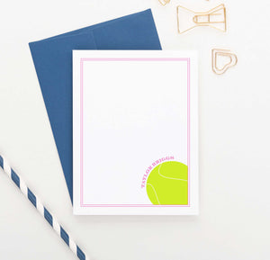 KS157 personalized tennis stationery set for boys and girls kids border modern sports sporty athletic 2